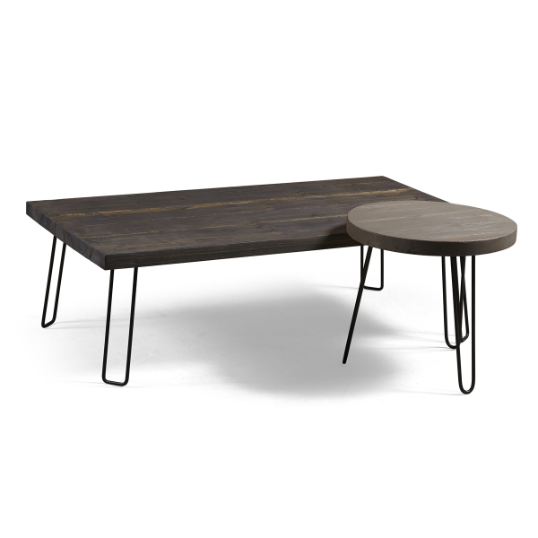 masif pine wood coffee table